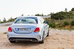 Modelo 2015 de la C-clase 2014 de Mercedes-Benz Imagen de archivo libre de regalías