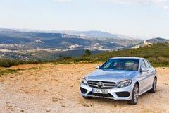Modelo 2015 de la C-clase 2014 de Mercedes-Benz Fotos de archivo libres de regalías