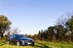 Modelo 2015 de la C-clase 2014 de Mercedes-Benz Imagen de archivo