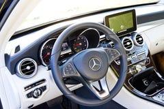 Modelo 2015 de la C-clase 2014 de Mercedes-Benz Fotos de archivo