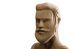 Modelo de la cabeza humana aislado en el fondo blanco Foto de archivo