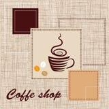 Modelo de la cafetería Imagenes de archivo