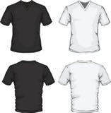 modelo de la camisa del V-cuello Fotografía de archivo