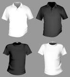 Modelo de la camiseta imágenes de archivo libres de regalías