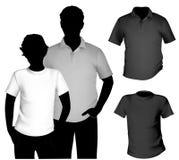 Modelo de la camiseta Fotografía de archivo libre de regalías