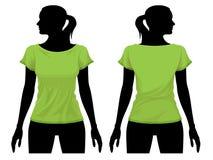 Modelo de la camiseta Imagen de archivo libre de regalías