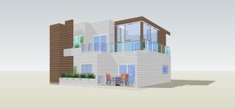 Modelo de la casa Imagen de archivo libre de regalías