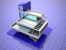Modelo de la casa Imágenes de archivo libres de regalías