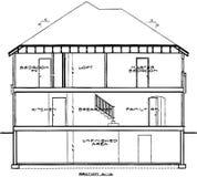 Modelo de la casa Fotos de archivo