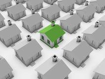 modelo de la casa 3d Imagen de archivo