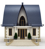 Modelo de la casa de la familia stock de ilustración