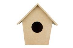 Modelo de la casa de madera para el decupart Fotografía de archivo