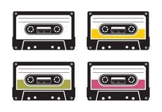 Modelo de la cinta de casete Fotos de archivo libres de regalías