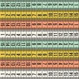 Modelo de la cinta de la medida de la moda del sastre Fotografía de archivo