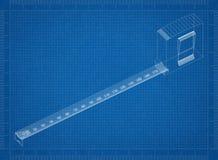 Modelo de la cinta de la medida fotos de archivo