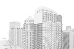 Modelo de la ciudad ilustración del vector