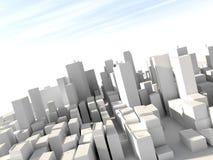 modelo de la ciudad 3D Fotografía de archivo libre de regalías