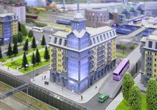 Modelo de la ciudad Fotografía de archivo libre de regalías