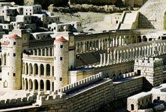 Modelo de la ciudad de Jerusalén Imagen de archivo libre de regalías