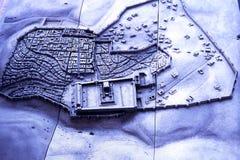Modelo de la ciudad de Jerusalén fotografía de archivo