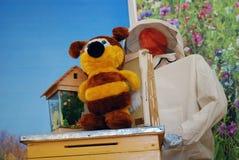 Modelo de la colmena de la abeja Imagen de archivo libre de regalías