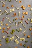 Modelo de la comida de las pastas imagen de archivo libre de regalías