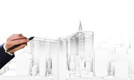 Modelo de la construcción Imagen de archivo