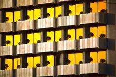 Modelo de la construcción de viviendas moderna Fotos de archivo libres de regalías