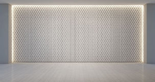 Modelo de la decoración de la pared en sitio blanco vacío Imagen de archivo
