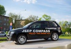 Modelo de la demostración de Jeep Compass Imagen de archivo libre de regalías