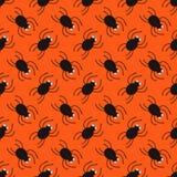 Modelo de la diagonal de las arañas de Halloween Fondo inconsútil lindo Imágenes de archivo libres de regalías