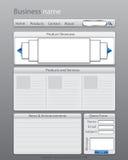 Modelo de la disposición del Web site del asunto ilustración del vector
