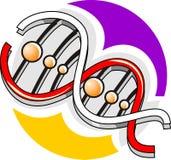 Modelo de la DNA Imagen de archivo libre de regalías