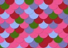 Modelo de la escala de pescados, vector común abstracto, textura del color, color brillante, Fotos de archivo libres de regalías