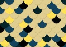 Modelo de la escala de pescados, vector común abstracto, textura del color, color brillante, Imagenes de archivo