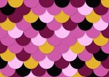 Modelo de la escala de pescados, vector común abstracto, textura del color, color brillante, Fotos de archivo