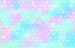 Modelo de la escala de la sirena Textura de los pescados de la pendiente Fondo azul rosado del infante de marina del color Foto de archivo libre de regalías