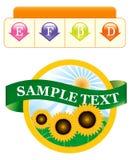 Modelo de la escritura de la etiqueta para un producto Fotos de archivo