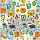Modelo de la escuela en manchas blancas /negras Imágenes de archivo libres de regalías