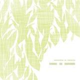 Modelo de la esquina del marco de la textura de la materia textil de las hojas del verde libre illustration