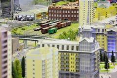 Modelo de la estación de ferrocarril. Imagen de archivo libre de regalías