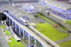 Modelo de la estación de ferrocarril. Fotos de archivo