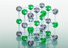 Modelo de la estructura molecular del NaCl Fotografía de archivo