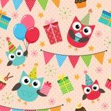 Modelo de la fiesta de cumpleaños Imágenes de archivo libres de regalías