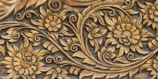 Modelo de la flor tallado Foto de archivo