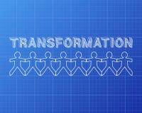 Modelo de la gente de la transformación Fotos de archivo