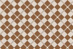 Modelo de la guinga de Brown Textura del Rhombus para - la tela escocesa, manteles, camisas, vestidos, papel, lecho, mantas, edre ilustración del vector