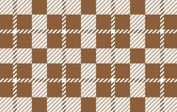 Modelo de la guinga de Brown Textura del Rhombus para - la tela escocesa, manteles, camisas, vestidos, papel, lecho, mantas, edre libre illustration