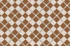 Modelo de la guinga de Brown Textura del Rhombus para - la tela escocesa, manteles, camisas, vestidos, papel, lecho, mantas, edre stock de ilustración