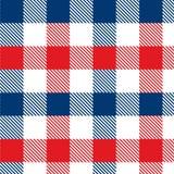Modelo de la guinga rojo y azul Textura del Rhombus/de los cuadrados para - la tela escocesa, manteles, ropa, camisas, vestidos,  stock de ilustración